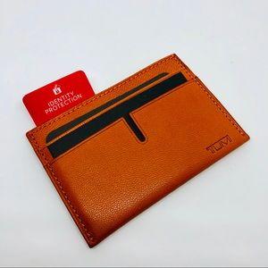 Tumi Chambers Slim RFID Card Wallet Orange